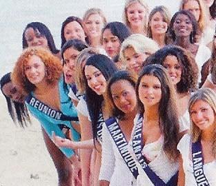 Le doigt de Miss France
